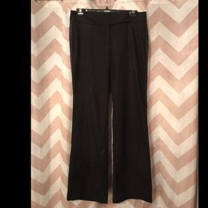 Express leather pin striped slacks